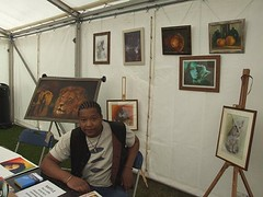 Chillin at my first #PAOS exhibition in 2009 #artoftonynero in #centralpark now jammin at #PAOS20Q8 if you spot me over the next 3 weekends and take a pic of me or my work use #looksliketonynero you could win stuff #artist #art 👌 (Tony Nero) Tags: artoftonynero tony nero art peterorough cambridgeshire creative out about craft paintings