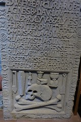 Memento mori (Fraser P) Tags: scotland orkney islands kirkwall mainland cathedral romanesque 12thcentury medieval tombs graves gothic morbid memorials carved inscriptions skull crossbones hourglass