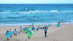 Ocean surfing school (Zygonyx) Tags: casio exilim ex100f silkypix biscarrosse landes atlantique
