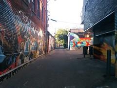 Graffitied alley north off Queen, west of Ossington #toronto #queenstreetwest #westqueenwest #ossingtonave #alley #laneway #graffiti (randyfmcdonald) Tags: alley graffiti laneway westqueenwest queenstreetwest ossingtonave toronto