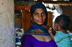 India- Gujarat- Adhivasi village near Poshina (venturidonatella) Tags: india gujarat poshina portrait ritratto people persone gentes donna donne women woman occhi eyes sguardo look emozioni emotion colori colors nikon nikond300 d300 madre mother