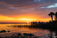 Sunset over Lake Washington (Michael Seeley) Tags: 2018 canon fl florida lake lakewashington landscape melbourne mikeseeley shoreline spacecoast sunset