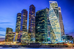 Moscow skyline at night (Polina Pechenkina) Tags: moscow russia skyline skyscraper building nightphotography architecture nikond3200 travel travelphotography