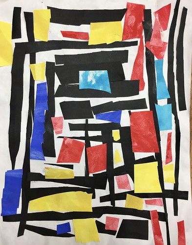 """Every year I get new favorites with this #kindergarten #pietmondrian  inspired painted paper gridded #collage ❤️❤️  They have such an amazing lyricism at this age that I admire so much. Want em all! • <a style=""""font-size:0.8em;"""" href=""""http://www.flickr.com/photos/57802765@N07/42086990160/"""" target=""""_blank"""">View on Flickr</a>"""