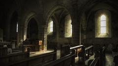 Elle ne croyait plus... ♪♫♪ (Fred&rique) Tags: lumixfz1000 photoshop raw hdr église bancslumière prière hattonchâtel meuse religion