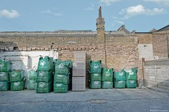 Building Blocks ~Tram Depot 38-40, Hackney (Nefise H) Tags: home build supplies hbs clapton london uk hackney tram depot warehouse builders merchant independent established 1990 bricks chimney listedbuilding upperclapton eastlondon nikond700 nikon2470mmlens victorian heritage conservation nefise hussein photography building blocks materials concrete yard wall