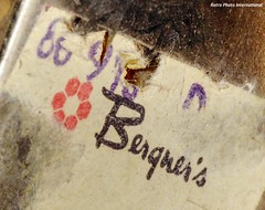 Bought at Bergners (Retro Photo International) Tags: bergners logo tag carl zeiss jena tessar 50mm 35