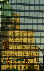 old and new (petejam70) Tags: arcitecture reflection vancouvercanada pride mysterious
