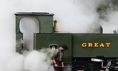 Great... (Treflyn) Tags: driver valeofrheidol vale rheidol 262t 8 release steam shed aberystwyth great western gwr narrow gauge wales