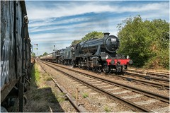 48476 & 73069. '1L50'. (Alan Burkwood) Tags: gcr quorn 50yearssincetheendofbrsteamgala 48476 48624 73069 steam locomotive passenger train 1l50