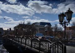 Beloved`s Bridge (DementyD) Tags: bridge river lanterns city astrakhan мост река фонари город астрахань pigeons голуби