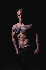 _BSC2465 (benni_schuetzenhofer) Tags: inked shredded shred tattoo tattooedup blackbackground abs sixpack huge muscle muscles big getbig fitness model athletic fit fitguy man male malemodel