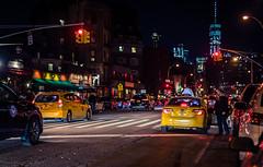 New York (KennardP) Tags: cityatnight citylights city handheldnightphotography nightlights nightphotography road buildings oldbuildings cars yellowcabnewyork yellowcab taxi people manhattan newyorkcity newyork nyc canon sigma50mmf14dghsmart sigmaartlens sigma stores shopping