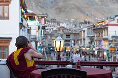 on the roof terrace (DeCo2912) Tags: leh ladakh monk jammu kashmir india himalaya