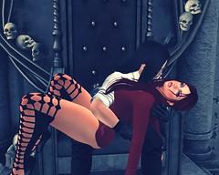 Feed (Rebel Donut) Tags: woman man vampire feed portrait sl sensual master victim bite control