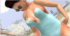 Zaira (Moni Carissa) Tags: imageessentials beach babe v2 poses prop truth hair genie swimsuit twe12veevilbunnyevent boubouki suntan sunglasses texas 7deadlyskins ebento event baja cove summer sexy brunette