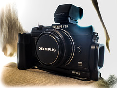 Olympus Pen E-P5. (CWhatPhotos) Tags: cwhatphotos camera photographs photograph pics pictures pic picture image images foto fotos photography artistic that have which contain ep5 micro four thirds vf4 view finder black photographed by an light shadow shadows views art