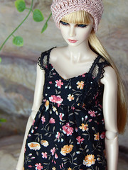 Boho Days - the black flower top (Levitation_inc.) Tags: ooak doll dolls clothes handmade fashion fashions royalty nuface integrity toys levitationfashion etsy barbie barbiestyle poppy parker summer boho 2018