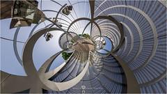 Puente monumental de Arganzuela 1 (pano360º) (Juan Ig. Llana) Tags: madrid ciudad parque río puente arganzuela perrault arquitectura farolas panorámica esférica 360 gigapan epicpro pareidolia explore