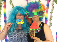 June 23rd 2018 - Project 365 (Richard Amor Allan) Tags: clown silly fun photobooth oversizedsunglasses sunglasses wig colour colourful project365