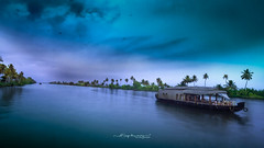House boat..... (Anup Devaraj Clicks) Tags: houseboat alleppybackwaters backwaters nature beautifuldestinations nikon nikond3200 nikkor nikkor1424