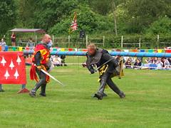 DSCF3802 (SierPinskiA) Tags: ruffordabbeycountrypark rufford knightsofnottingham fujixs1 jousting medieval horse knights goldeneagle falcon