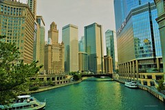 Chicago River (Anton Shomali - Thank you for over 1 million views) Tags: trump trumptower sony illinois chicagoriver chicago wacker drive michigan avenue buildings building tall tll skyscraper skyline boat ride tower big city downtown river dusk ave slta77v town walk center afternoon evening light lights streets bridge boats water sky tree