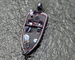Birds Eye View.. (mark owens2009) Tags: boat river fishermen chattanooga tennessee minnows sunglasses net tacklebox mercury towel bottledwater