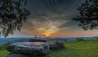 Pfälzer Sonnenuntergang