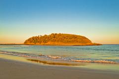 The Golden Beach (Cameron Corner) Tags: beach golden hour canon400d sunset holiday waves water destress