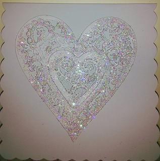 White Sparkle Heart