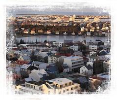 Icelandic Colours (Audrey A Jackson) Tags: canon60d iceland reykjavik lake houses colour sunrise