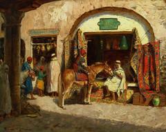 Carpet Shop, Algeria by Addison Thomas Millar (skaradogan) Tags: orientalism orientalisme painting algeria algerie north africa maghreb peinture