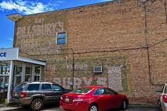 Pillsbury's Ghost Sign, Gwinn, MI (Robby Virus) Tags: gwinn michigan mi up upper peninsula pillsbury pillsburys ghost sign signage flour painted wall brick ad advertisement faded forgotten