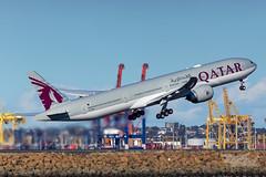 A7-BEU QR B77W 16R YSSY-4027 (A u s s i e P o m m) Tags: qatar qatarairways mascot newsouthwales australia au qr boeing b77w syd yssy sydneyairport