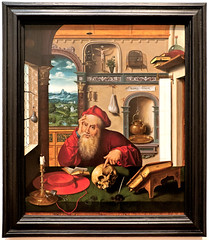 St. Jerome in his Study (Bob Gundersen) Tags: newyork franceslehmanloebartcenter vassar poughkeepsie usa bobgundersen robertgundersen gundersen nikon nikoncamera nikond600 d600 interesting image indoor inside interior art photo picture places museum shots painting