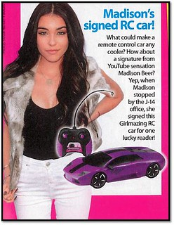Madison Beer Signed Car Competition