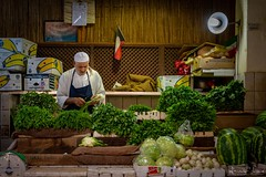 The Seller (faisy5c) Tags: 5ccha faisy5c nikonafs18105mmlens d7100 nikond7100 nikon seller souk salesman vegetables shop culture traditional reap steet streetkuwait