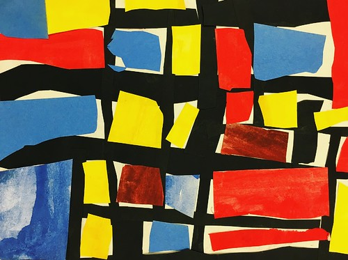 """Every year I get new favorites with this #kindergarten #pietmondrian  inspired painted paper gridded #collage ❤️❤️  They have such an amazing lyricism at this age that I admire so much. Want em all! • <a style=""""font-size:0.8em;"""" href=""""http://www.flickr.com/photos/57802765@N07/43847580382/"""" target=""""_blank"""">View on Flickr</a>"""