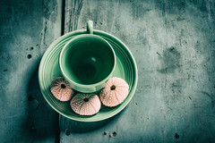 Ready Today2 (Matt GNH) Tags: kitchen abstract ceramic cup green handle ocean pink setting shades sugar table tea urchin