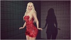 Alexandrite (Moni Carissa) Tags: amui dress red designer showcase avada almamakeup truth hair backdropcity glitter sexy elegance group gift posesion poses blonde eyeshadow eyes