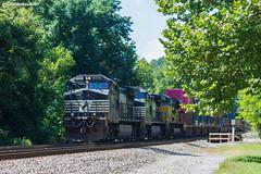 Park It (nrvtrains) Tags: intermodal unionpacific blountdr 236 christiansburgdistrict bridge norfolksouthern elliston virginia unitedstates us