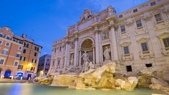 Trevi Fountain - before the crowds come (HansPermana) Tags: rome rom roma city cityscape italy historic oldtown italien italia architecture roman eternalcity eu europe europa trevifountain fountain water reflection bluehour