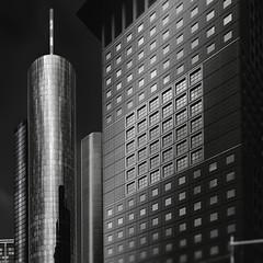 Distance (Robert_Franz) Tags: architecture architectural architektur frankfurt blackwhite modern futuristic abstract fineart nd building skyscraper urban city facade