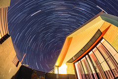 Still spinnin' [Explore] (LivingStone Images) Tags: 08aug18 2018 365the2018edition 3652018 8mm day220365 fisheye samyang stack startrail startrails winter
