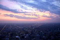 USA 2018 (jaffa600) Tags: unitedstatesofamerica unitedstates usa america chicago cityofchicago illinois stateofillinois city windycity thewindycity 360 360chicago chicago360 johnhancock johnhancockobservatory johnhancocktower cityview view skyscraper skyscrapers building buildings mist fog cityscape concretejungle nightshot night sunset sundown dusk evening
