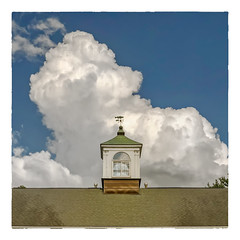Thunderhead (Timothy Valentine) Tags: hrsw fbpost large cupola sky 2015 weathervane clouds 0815 easton massachusetts unitedstates us