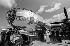 "B-29 Superfortress ""Doc"" (dpsager) Tags: 2018 airventure bw b29 boeingb29superfortress dpsagerphotography doc eaa eaaoshkoshairshow eos1v film kodak oshkosh portra400bw wisconsin aircraft airplane airshow osh18 blackwhite"