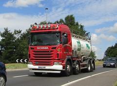 Shirley's transport MK62 KBF Passing Gledrid services (Joshhowells27) Tags: lorry scania g440 stokeontrent tanker shirleys liquids