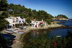Cala S'Alguer (candi...) Tags: calasalguer playa casas personas baño calas arboles paisaje piedras cielo airelibre sonya77